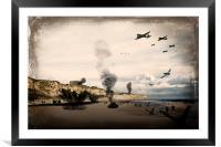 Omaha Beach, Framed Mounted Print