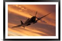Spitfire Sunset Pass, Framed Mounted Print
