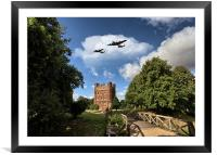 Lancaster over Tattershall, Framed Mounted Print