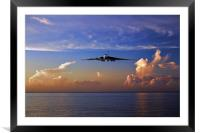 Vulcan Over The Waves, Framed Mounted Print
