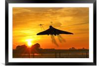 Vulcans Scramble, Framed Mounted Print