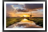 Over The Mills, Framed Mounted Print