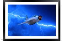 Lightning Force, Framed Mounted Print