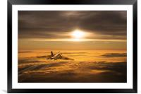 Another Vulcan Sunset, Framed Mounted Print
