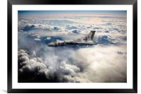 Vulcan Sky, Framed Mounted Print