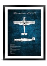 Messerschmitt BF-109, Framed Mounted Print