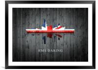 HMS Daring, Framed Mounted Print