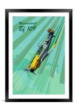 Messerschmitt Bf 109 Pop Art, Framed Mounted Print