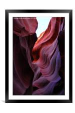 Antelope Canyon Lines, Framed Mounted Print