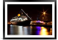 In At The Docks, Framed Mounted Print