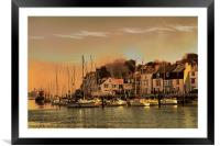 Weymouth Harbour, Framed Mounted Print