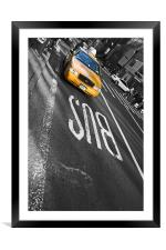 New York City - Mellow Yellow I, Framed Mounted Print