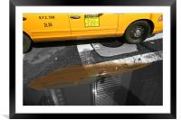 New York City: Yellow ants II, Framed Mounted Print