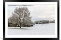 Snowy Campbell Park, Framed Mounted Print