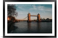 Tower Bridge Sunset, Framed Mounted Print