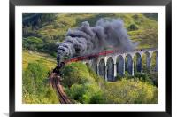 The Jacobite train, Framed Mounted Print