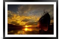 Loch Eil wreckship, Framed Mounted Print