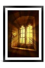 St. Saviours Window., Framed Mounted Print