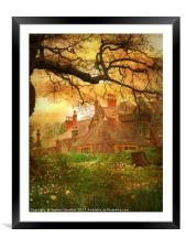 The House on the Hill., Framed Mounted Print