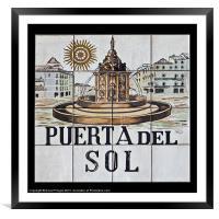 Puerta del Sol, Framed Mounted Print