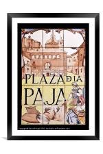 Plaza de la Paja, Framed Mounted Print