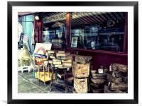Portobello Road London Junk Shop, Framed Mounted Print