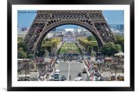 Eiffel Tower Paris, Framed Mounted Print