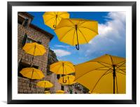 Umbrellas, Framed Mounted Print