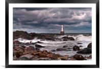 Aberdeen South Breakwater Light, Framed Mounted Print