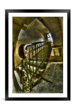 Hand rail, Framed Mounted Print
