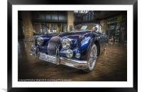 Blue Jag, Framed Mounted Print