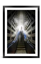 Move into the light, Framed Mounted Print