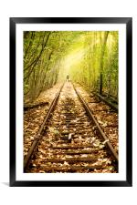 Light at the end of the line, Framed Mounted Print