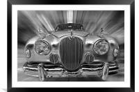 Old Jaguar S, Framed Mounted Print