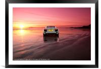 R8 on a beach, Framed Mounted Print