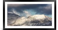 Crib goch on Snowdon, Framed Mounted Print