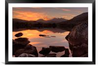 Snowdon sunset, Framed Mounted Print