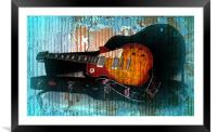A Grungy Guitar, Framed Mounted Print