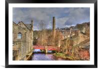 St Georges Bridge, Hebden, Yorkshire., Framed Mounted Print