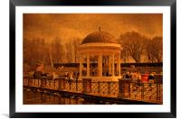 A Stroll around the Bandstand, Framed Mounted Print