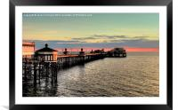 North Pier at Sunset, Framed Mounted Print