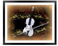 The White Violin , Framed Mounted Print