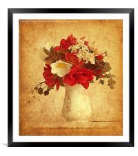 Vase of Flowers. , Framed Mounted Print