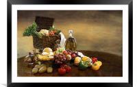 Fruit and Vegetables, Framed Mounted Print