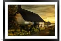 Cornish Cottage, Framed Mounted Print