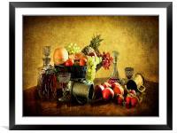 Vinatge style still life ., Framed Mounted Print