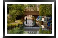 The Rochdale Canal , Yorkshire, Framed Mounted Print