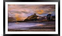 Criccieth Castle Wales., Framed Mounted Print