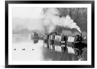 The Gloucester and Sharpness Canal, Framed Mounted Print