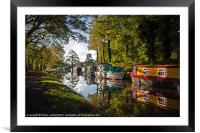 Monmouthshire and Brecon Canal at Goytre, Framed Mounted Print
